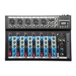 Оригинал 7-канальный портативный USB Монитор Микшер Bluetooth Live Studio Консоль микширования звука для караоке DJ