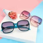 Оригинал Women's Fashion Sunglasses Large-framed Anti UV400 Glasses