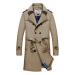 Оригинал Mens Mid Long Толстое теплое двойное грубое стильное пальто