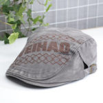Оригинал Unisex Embroidered Letters Peaked Cap Duckbill Hat