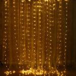 Оригинал 3 м * 3 м USB IP67 Дистанционное Управление 300LED фея занавес строки Сад Свадебное рождественская вечеринка декор