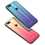 Оригинал BakeeyЛазерGradientBlingЗакаленноестекло Противоударный Защитный Чехол Для Xiaomi Mi 8 Lite