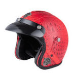 Оригинал Ретро Чоппер Мотокросс мотоцикл Кожа PU Половина Шлем Для Harley/Honda/Kawasaki