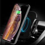 Оригинал УниверсальныйинфракрасныйДатчикАвтоЗамокQi Беспроводная зарядка Авто Держатель телефона для iPhone 8 XS S8 S9