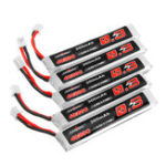 Оригинал 5Pcs URUAV 3.8V 300mAh 40 / 80C 1S HV 4.35V PH2.0 Lipo Батарея для Eachine TRASHCAN Snapper6 7 8 UK65