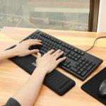 Оригинал 440мм * 110мм Антискользящий упор для рук Мышь Подушка для 104 клавиш Клавиатура Для настольного компьютера Механический Клавиатура