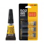 Оригинал Deli 502 Strong Adhesive Glue Сильная адгезия для различных материалов Супер клей