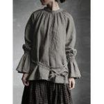 Оригинал S-5XL Elegant Crew Шея Хлопковая блуза с расклешенными рукавами