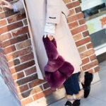 Оригинал ЖенскоеПлюшеваясумкадляотдыхаСумка Vest Handbag Плюшевая сумка из хлопка