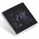 Оригинал Еженедельный программируемый термостат с подогревом пола LCD Цифровой сенсорный экран Комнатный термостат Термометр Белая подсветка