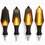 Оригинал Пара 12 В Водонепроницаемы LED мотоцикл Индикаторы указателей поворота с желтым фонарём