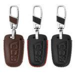 Оригинал 3 кнопки Авто кожа Дистанционный ключ Чехол крышка корпуса для Hyundai Санта-Фе 2013 2015