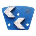 Оригинал 36 скребков пусковой площадки диска меля трапециевидных алмазов меля для пола бетона точильщика