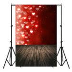 Оригинал 5x7FT Красный Мигающий Любовь Доска День святого валентина Тема Фотографии Фон Студия Опора Фон