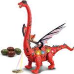 Оригинал Электрические игрушки динозавров Lay Eggs Projection Kid Gift Забавные новинки Игрушки