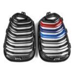 Оригинал Пара Блеск Черный M-Color Двойная линия Передняя решетка для почек Для BMW F20/F21 1 серия 2015-2017