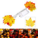 Оригинал 1.5M10LEDFallMapleFairy Light Строка Гирлянда Лампа Рождественский Свет Рождественский Домашний Декор