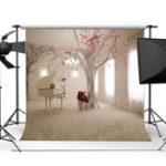 Оригинал 10x10FT White Piano Room Тема Роза Фотография Заставка Студия Prop Background