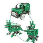 Оригинал 3 В 1 DIY RC Робот Игрушка Блок Строительство Инфракрасного Управления Авто Солдат Динозавров Образования Набор