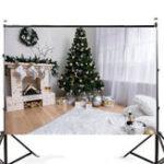 Оригинал 7x5FT Белая комната Рождественская елка Камин Фотография Заставка Студия Prop Background