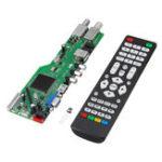Оригинал 5 OSD Game RR52C.04A Поддержка цифрового сигнала DVB-S2 DVB-C ATV DVB-T2 / T Универсальный LCD Плата с драйверами Dual USB Play Media 30Pin 6 Bit With Дистанционный