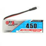 Оригинал 2PCS Gaoneng GNB 3.7V 450mAh 1S 80 / 160C Lipo Батарея с белой вилкой