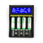 Оригинал Универсальное зарядное устройство Smart LCD Multifuncation Lithium Батарея Зарядное устройство для 9В AA AAA Ni-MH Ni-CD 18650 Li-ion Батарея Зарядное устройство мног