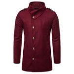 Оригинал Мужское длинное зимнее пальто стильное Тонкий Fit Jacket