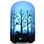 Оригинал 100 мл 3D 7 цвет Светодиодный увлажнитель воздуха ультразвуковой Туман небулайзер ароматерапия Диффузор очиститель