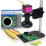 Оригинал 16MP 60 LED USB Digital камера Микроскоп Лифт Стенд 10X – 130X Video Zoom Объектив