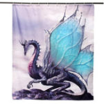 Оригинал Custom Dragon Waterproof Bathroom Shower Curtain Bathroom Decor 60 x 72 Inch