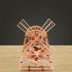 Оригинал Wood Trick Windmill Механический Модель 3D Деревянные пазлы DIY Игрушка сборки Gears Конструкторские наборы Подарки