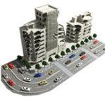 Оригинал 1/144 Battle Damaged Building Запределье Модель Железнодорожного Офиса Сцена Подарок С Упаковкой