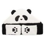 Оригинал Унисекс Ягненок Плюшевый 1-кусок Cute Panda Перчатки Карманный шарф Шапка