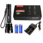 Оригинал WARSUNX80XHP502500LMАккумуляторныйвентилятор Militar Tactical Hunting Фонарик Мощный высокий люмен Яркость LED Факел