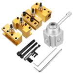 Оригинал Quick Change Post Holder Kit Set Boring Bar Turning Tool Holder For CNC Mini Lathe
