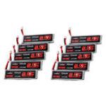 Оригинал 10Pcs URUAV 3.8V 550mAh 50 / 100C 1S HV 4.35V PH2.0 Lipo Батарея для Emax Tinyhawk Kingkong / LDARC TINY