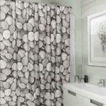Оригинал 180×180 cm Shower Curtains Stone Design Waterproof Bathroom Curtain Polyester Fabric Bath Curtain