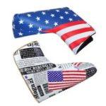 Оригинал СпортГольфПаттерГоловнаяКрышкаКлуба PU Headcover Универсальный Американский Флаг Протектор