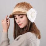 Оригинал Women Winter Thickened Gradient Knitted Hat Earmuffs Beret