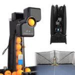 Оригинал JT-A Настольный теннис Робот Автоматическая пинг-понг-шаровая машина Практика Recycle whit 100 Balls