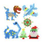 Оригинал Aqua Beads Твердые Бусины Refill Pack Воды Липкие Бусины Головоломки Игрушки DIY Боб Pegboard Set