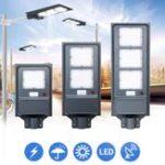 Оригинал 20 Вт 40 Вт 60 Вт LED солнечный Уличный фонарь PIR Motion Датчик Радар Индукционная стена Лампа / Полюс
