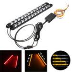 Оригинал 12V дневной проточный поток Flash LED Полоса DRL Turn Lights Red Amber