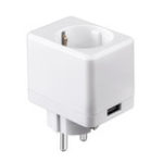 Оригинал EWelink AC90-250V 10A EU / US / UK Стандарт Белый USB Мини Smart WIFI Разъем