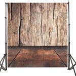 Оригинал 5x7FT Коричневая деревянная стена Фотография для пола Фон Студия Prop Background