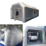 Оригинал 220V Надувная покрасочная камера Авто Палатка для рабочей станции с воздуходувкой + ремонтные комплекты