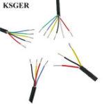 Оригинал KSGER Силиконовый Провод Трос консервированный Медь T12 Пайка Утюг, высокотемпературная куртка Soft