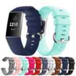 Оригинал KALOAD 8 цветов Силиконовый Diamond Шаблон Smart Bracelet Watch Стандарты Запасные аксессуары для Fitbit Charge 3