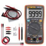 Оригинал ANENG AN8008 True RMS Wave Output Digital Мультиметр 9999 Подсчет Подсветка AC DC Ток Напряжение Res